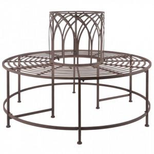 Esschert Design Banca de copac, metal - V428868V