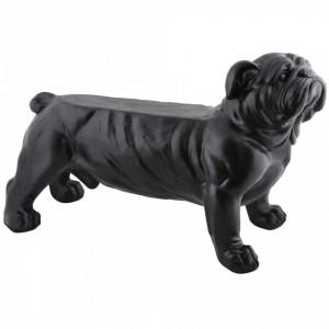 Esschert Design Banca de gradina Bulldog negru AV14 - V422489V