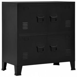 Fiset cu 4 usi, negru, 75 x 40 x 80 cm, otel, industrial - V145358V
