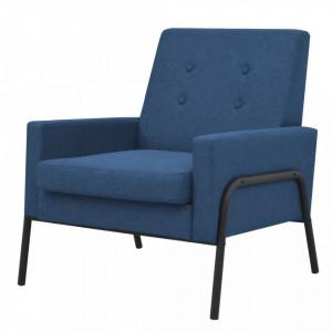 Fotoliu, albastru, otel si material textil - V245524V