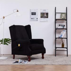 Fotoliu de masaj, negru, material textil - V282213V