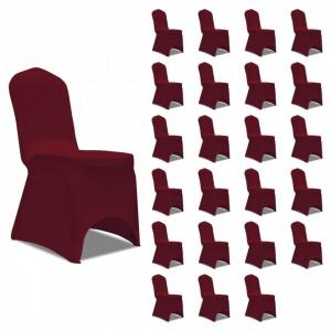 Huse de scaun elastice, 24 buc., visiniu - V3051645V