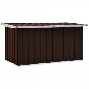 Lada de depozitare pentru gradina, maro, 129 x 67 x 65 cm - V46264V