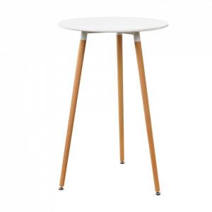 Masa bar rotunda - design retro - (Ø x inaltime): 70 x 107 cm - alb - P53829290