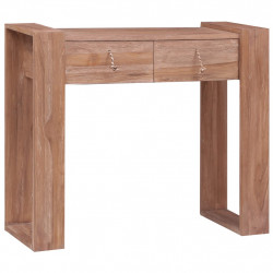 Masa consola, 90 x 35 x 75 cm, lemn masiv de tec - V287896V