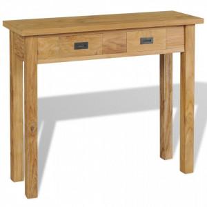 Masa consola din lemn masiv de tec, 90 x 30 x 80 cm - V244481V