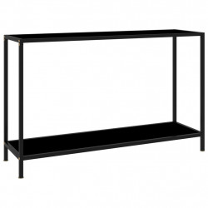 Masa consola, negru, 120 x 35 x 75 cm, sticla securizata - V322840V