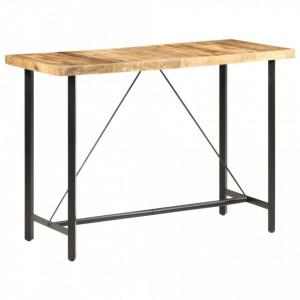 Masa de bar, 150x70x107 cm, lemn de mango nefinisat - V286612V
