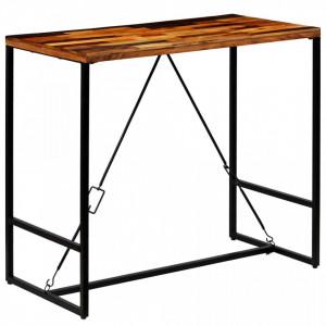 Masa de bar din lemn masiv reciclat, 120 x 60 x 106 cm - V246289V
