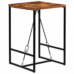 Masa de bar din lemn masiv reciclat, 70 x 70 x 106 cm - V246288V