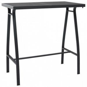 Masa de bar gradina, negru, 110x60x110 cm, sticla securizata - V48121V