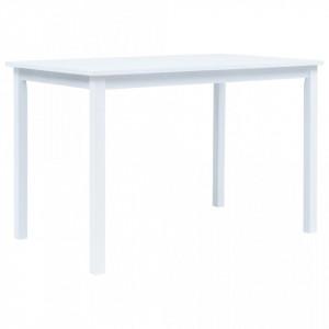 Masa de bucatarie, alb, 114 x 71 x 75 cm, lemn masiv de hevea - V247362V