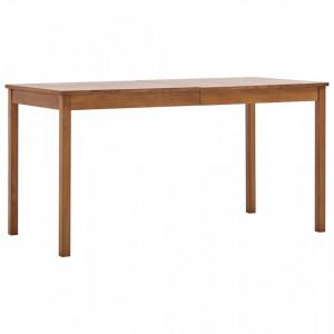 Masa de bucatarie, maro miere, 140 x 70 x 73 cm, lemn de pin - V283398V