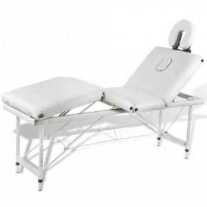 Masa de masaj pliabila 4 parti cadru din aluminiu Crem - V110100V