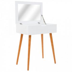 Masa de toaleta cu oglinda, MDF, 60 x 40 x 75 cm - V245751V