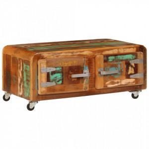 Masuta de cafea, 85 x 55 x 40 cm, lemn masiv reciclat - V247515V