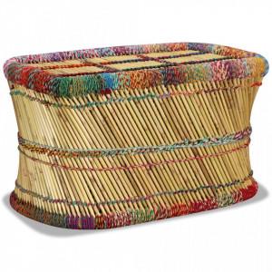 Masuta de cafea cu detalii chindi, multicolor, bambus - V244215V