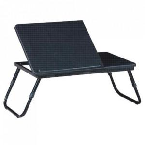 Măsuţa pentru notebook/suport pentru tablete, negru, EVALD