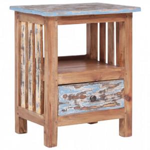 Noptiera, 41 x 30 x 50 cm, lemn masiv reciclat - V283926V