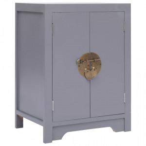 Noptiera, gri, 38 x 28 x 52 cm, lemn de paulownia - V284072V