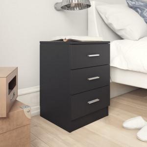 Noptiera, negru, 38 x 35 x 56 cm, PAL - V800452V