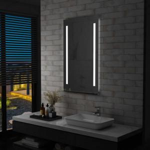 Oglinda cu LED de perete pentru baie cu raft, 60 x 100 cm - V144716V