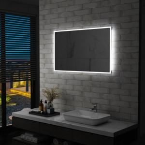Oglinda cu LED pentru perete de baie, 100 x 60 cm - V144728V