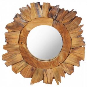 Oglinda de perete, 40 cm, tec, rotund - V288803V