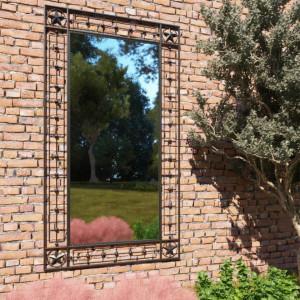 Oglinda de perete de gradina, negru, 60x110 cm, dreptunghiular - V275614V