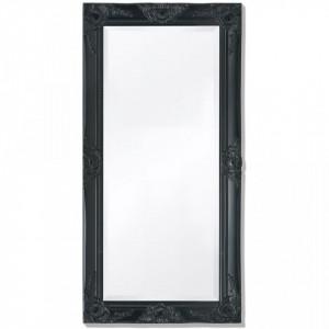 Oglinda de perete in stil baroc, 100 x 50 cm, negru - V243682V