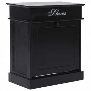 Pantofar, negru, 50 x 28 x 58 cm, lemn de paulownia - V284086V