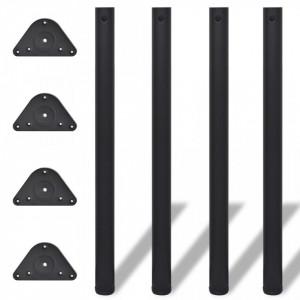 Picioare de masa reglabile, Negre, 870 mm, 4 buc. - V242149V