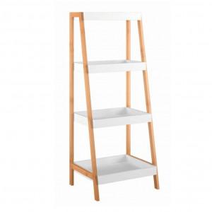 Raft, bambus lăcuit/alb, REGO 3