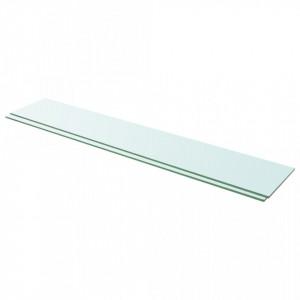 Rafturi, 2 buc., 110 x 20 cm, panouri sticla transparenta - V3051589V