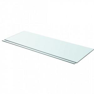 Rafturi, 2 buc., 80 x 30 cm, panouri sticla transparenta - V3051576V