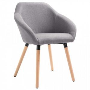 Scaun de sufragerie, gri deschis, material textil - V283449V
