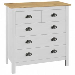 Servanta Hill Range, alb, 79 x 40 x 80 cm, lemn masiv de pin - V288918V