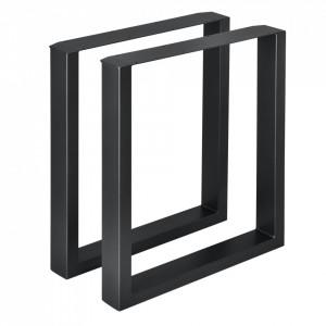 Set 2 bucati picioare masa/mobilier Model 1, 60 x 72 cm, metal, negru - P57353520