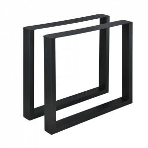 Set 2 bucati picioare masa/mobilier Model 1, 80 x 72 cm, metal, negru - P57353516