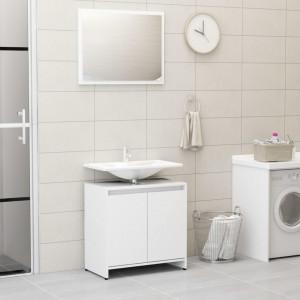 Set mobilier de baie, alb, PAL - V802651V