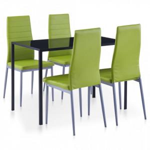 Set mobilier de bucatarie, 5 piese, verde - V281705V