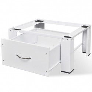 Stativ masina de spalat cu sertar, alb - V50448V