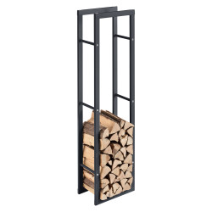 Suport lemne foc Kasan 5, 40 x 150 x 25 cm, otel, gri - P71406189