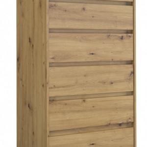TECOAR103 - Comoda 70 x 43 x 139 cm, Stejar Artisan