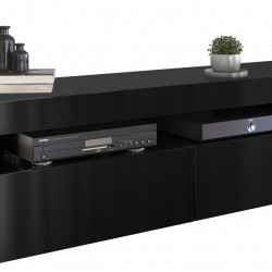 TECOTVN101 - Comoda TV 160 x 40 x 45 cm, Negru-Lucios