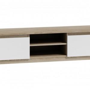 TECOTVS-A102 - Comoda TV 140 x 40 x 36 cm, Sonoma-Alb-Mat