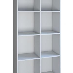 TERAA103 - Raft, biblioteca 80 x 35 x 180 cm, Alb-Mat