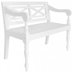 Banca Batavia, alb, 98 cm, lemn masiv mahon - V246966V