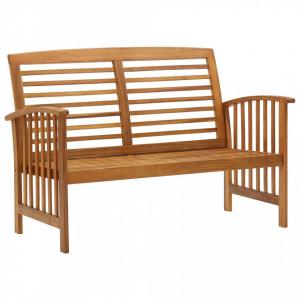 Banca de gradina, 119 cm, lemn masiv de acacia - V310259V