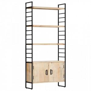 Biblioteca cu 4 niveluri 80x30x180 cm lemn masiv de mango - V284421V
